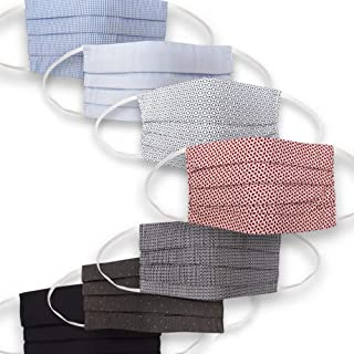 Mediweave Cotton Unisex Reusable Cloth Face Mask with Non-Woven Filter, Multicolor, Free size, Pack of 7 (Assorted designs, Images are Representative)