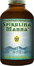 HealthForce SuperFoods Spirulina Manna, All-Natural Nutrient-Rich Superfood, Vitamins, Minerals, Amino Acids, Organic, Vegan, Gluten-Free, Non-GMO, 16 Ounces Powder