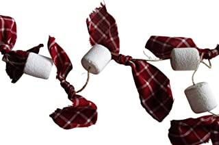 From The Attic Crafts Christmas Garland Marshmallows with Homespun Bows