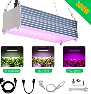 Harchee Led Grow Light for Indoor Plants 300W Full Spectrum Grow Light for Greenhouse Tent Cabinet Grow Lamp for Seedlings Tomato Dual Switch Design Daisy Chain Function for (Triple-Chips 2W, 160pcs)