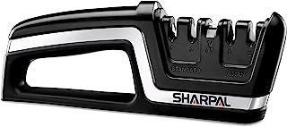 Sharpal SHA133N Afilador Profesional 5 en 1 para Cuchillos y Tijeras Adulto Unisex Negro