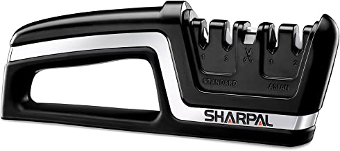 SHARPAL 104N Professional 5-in-1 Kitchen Chef Knife & Scissors Sharpener, Sharpening Tool for Straight & Serrated Knives, ...
