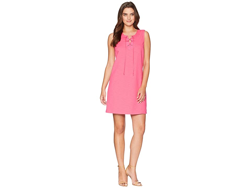 Tommy Bahama Jer-Sea Sleeveless Tie Front Dress (Pink Lace) Women