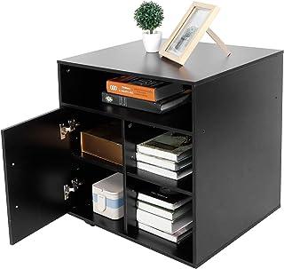 Armoire Mobile D'Imprimante à Grille 3 Couches 5, Support D'Imprimante Ouvert pour Bureau à Domicile, Classeur Mobile, Env...