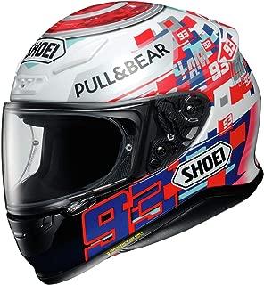 Shoei Marquez Power Up RF-1200 Sports Bike Racing Motorcycle Helmet - TC-1 / Large