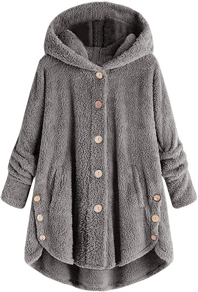 NRUTUP Fashion Women Ranking TOP3 Button Coat Fluffy Tops It is very popular Tail Pullove Hooded