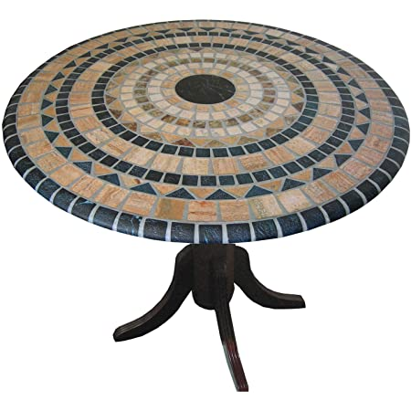 Amazon Com Vesuvius Stone Pattern Mosaic Table Cover Fits Round 36 Inch Pedestal To 48 Inch Tables Kitchen Dining