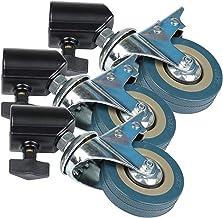 Zwenkwielen, Caster Wheels Set van 4 Casters 3 stks 2 2mm Foto Studio Heavy Duty Universal Caster Wheel for Light Stands &...
