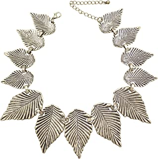 Greek Roman Vintage Laurel Leaf Collar Bib Necklace Bridal Gift