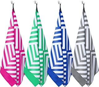DARCHEN Microfiber Beach Towels Oversize Travel Beach Towel 1 or 4 Pack - Quick Dry Towel for Swimming, Sand Free Towel (Extra Large XL 70x.35, Large 63x31) for Kids Adult