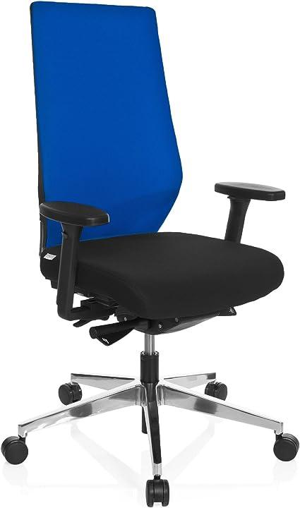 Sedia da ufficio, 100% poliestere, multicolore, 53.00x60.00x123.00 cm hjh office pro-tec 700 608842