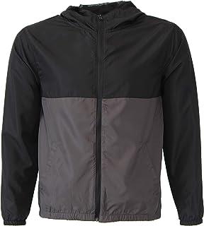 Global Blank Boys Windbreaker Jacket Hooded Water-Resistant Soft-Shell Coat Kids