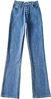 بنطلون جينز نسائي كبير الحجم قابل للتمدد بنطلون جينز فضفاض للأمهات بنطلون واسع جمالي ملابس نسائية بنطلون ستريتوير
