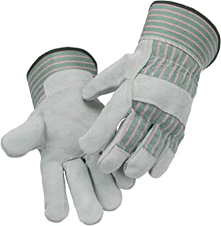 """AB Grade Leather Work Gloves 1 Pair Size L,10.5"""" Length 13 cm Palm Width Split Leather Design Heavy Duty Industrial Safety Gloves Fits Men & Women All-Season Perfect for Mechanics, Welding, Gardening"""