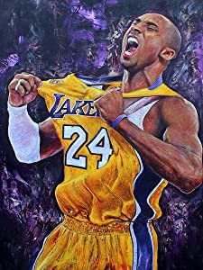 ALTRUB Large Size (Canvas Size: 17.7 x 13.8 inch) DIY 5D Diamond Painting Kits for Adults and Kids, Round Full Drill Crystal Rhinestone Embroidery Arts Craft for Wall Décor - Basketball Superstar