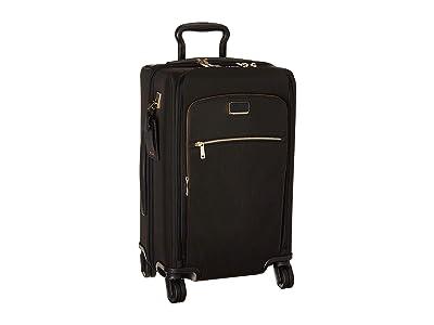 Tumi Larkin Sutter International Dual Access 4 Wheeled Carry-On (Black/Gold) Luggage