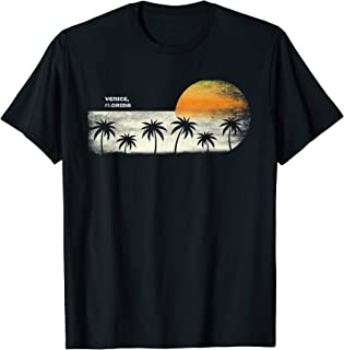 Vintage Venice FL Ocean Sunset and Palm Trees T-Shirt