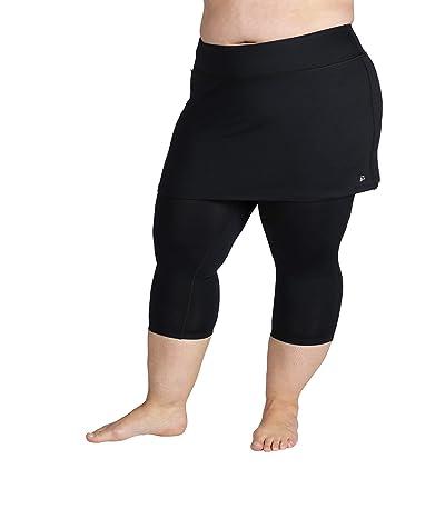 Skirt Sports Plus Size Lotta Breeze Capris Skirt (Black) Women