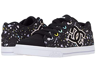 DC Kids Chelsea (Little Kid/Big Kid) (Black/Splatter) Girls Shoes