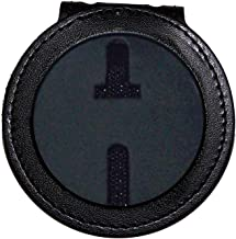 Round US Marshal Belt Clip Badge Holder with Chain (2-1/4 inch recessed cutout, Cutout PF281)