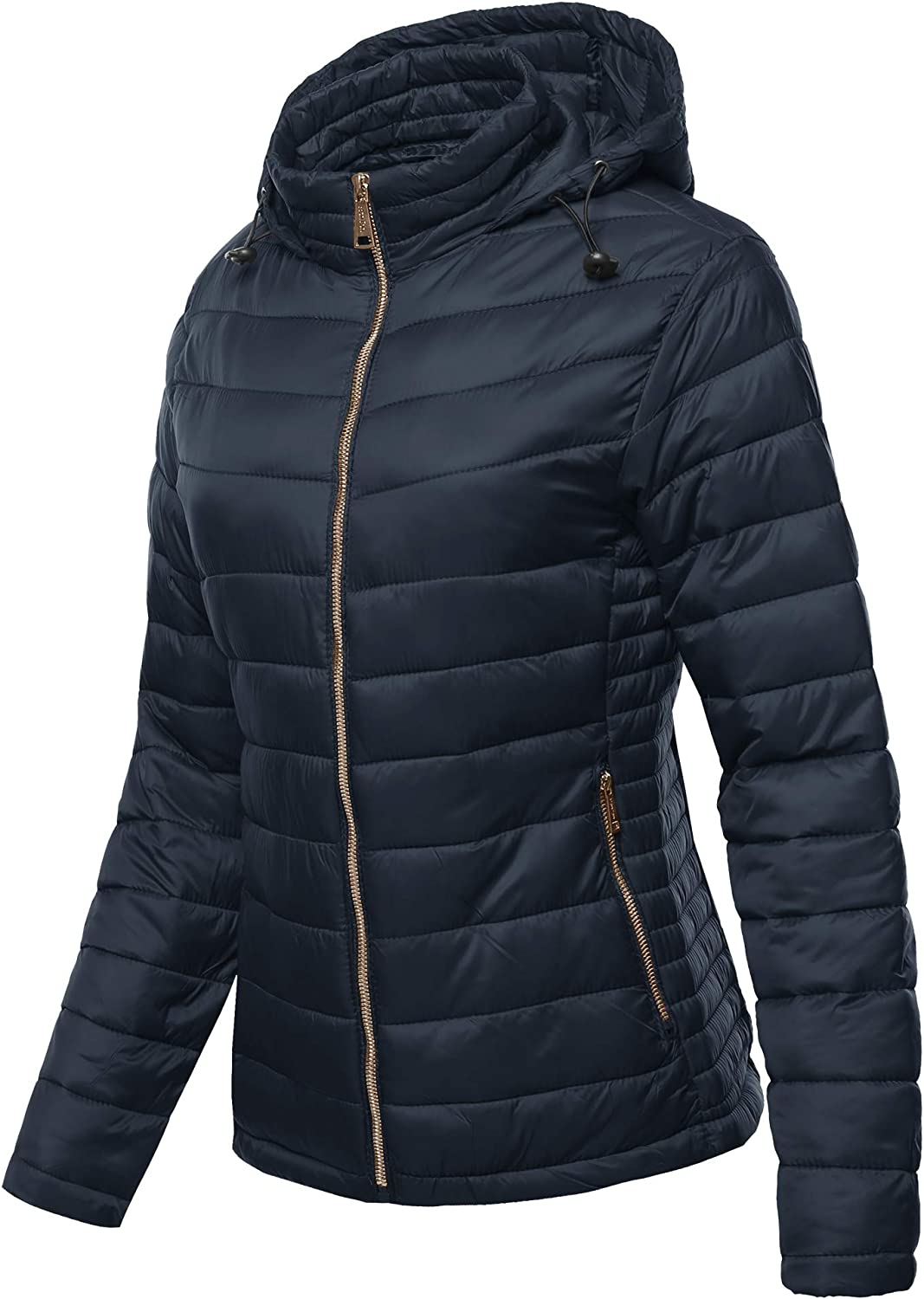 Women's Solid Basic Quilted Light Padded Jacket