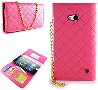 CoverON for Microsoft Lumia 640 Wallet Case - Hot Pink - [ClutchCase Series] Soft Flip Credit Card Phone Cover Purse Pouch with Screen Protector