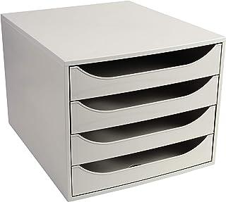 EXACOMPTA 228606D EcoBox Caisson 4 tiroirs Office Gris