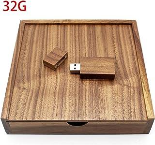 Losenlli Caja de álbum de Fotos de Madera de Nogal Memoria USB de 32 GB Dispositivo