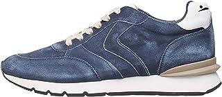 VOILE BLANCHE Liam Race II-Sneaker in Suede Spazzolato Effetto Vintage