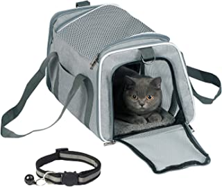TCBOYING Airline Approved Cat Carrier,Soft Sided Pet Travel Carrier Cat Carrier with Fleece Pad for Cats, Puppy and Small Dogs