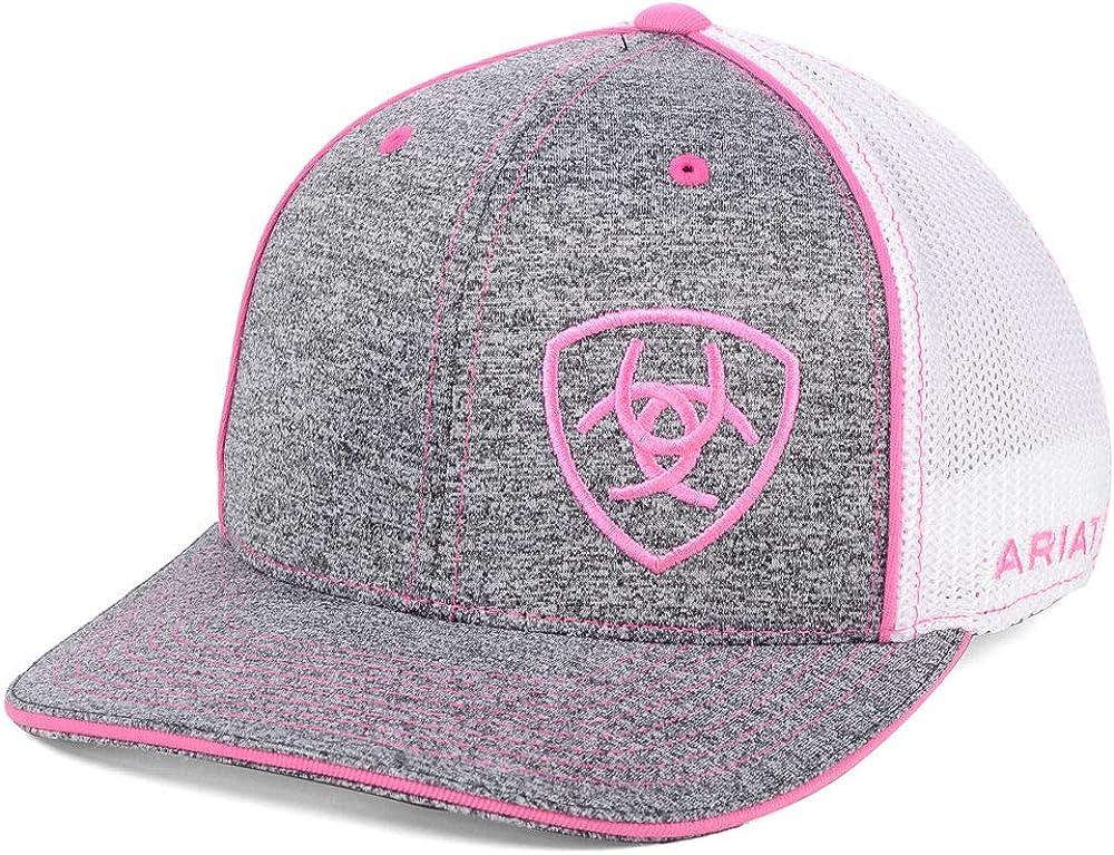 ARIAT Women's Grey/Pink Adjustable Snapback Hat