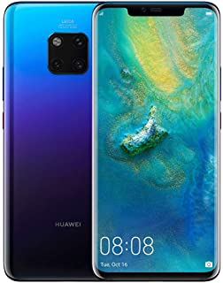 Huawei Mate 20 Pro Smartphone, 6 GB RAM + 128 GB ROM, 6.39'' display, IP68, Kirin 980 chipset, 40W HUAWEI SuperCharge, Leica Triple Camera, In-screen Fingerprint, 3D Face Unlock, Twilight