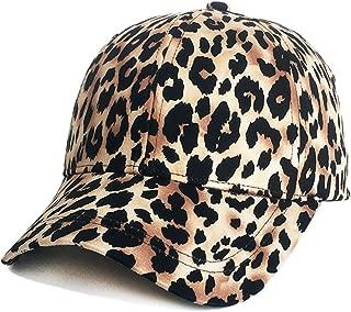 ZLSLZ Womens Girls Leopard Print Baseball Trucker Sport Golf Ponytail Pony Sun Hat Cap