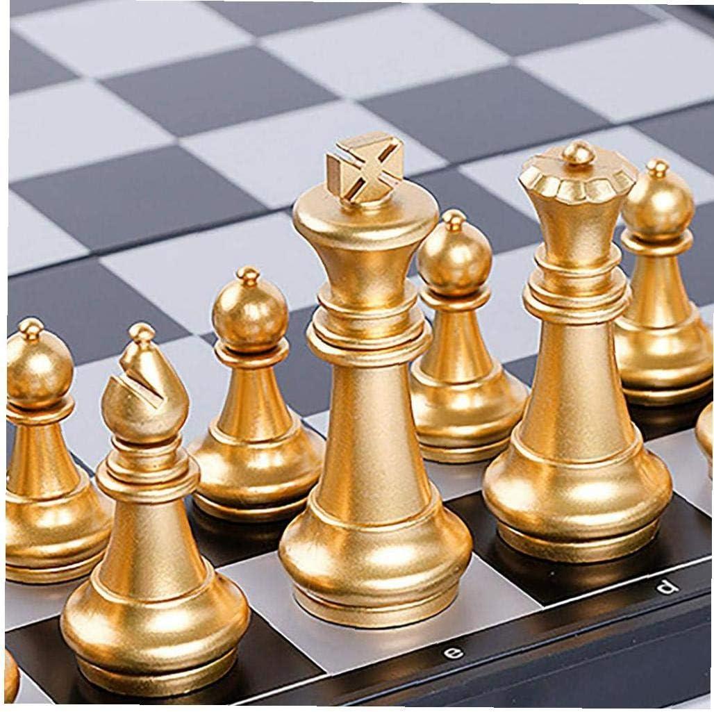 24cm 3 in 1 Schach Folding Holz Farbe Schach mit gro/ßen Schachbrett f/ür Anf/änger Kinder Erwachsene LAANCOO 24