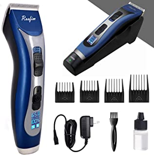 Hair Clippers for Men (Up to 7 Hours Run Time) Professional Cordless Hair Trimmer Beard Trimmer Rechargeable Barber Grooming Kit LED Display Quiet