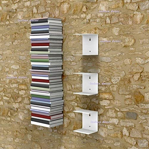 INDIAN DECOR Metal Invisible Shelves(White, 150x150x125mm)