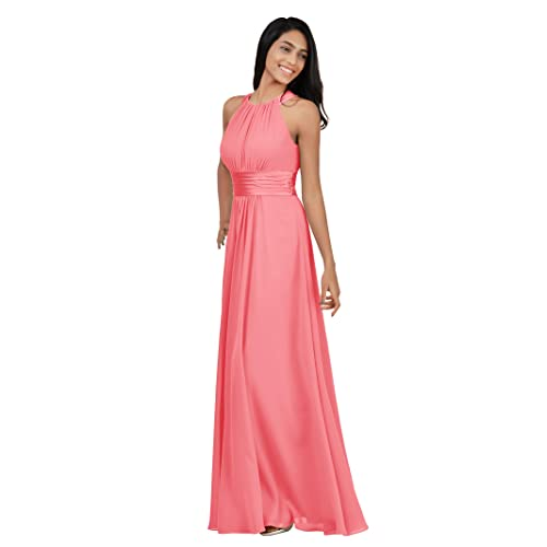 0ee466fce702 Alicepub Bridesmaid Maxi Dresses Long for Women Formal Evening Party Prom  Gown Halter