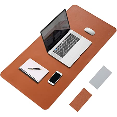 Amazon Brand - Eono Mouse Pad, Large Mouse Mat 80x40cm, Extended PU Leather Desk Writing Mat, Laptop Mouse Matt, Dual-Sided Waterproof Easy to Clean XXL Desk Blotter Protector for Gaming Office Home