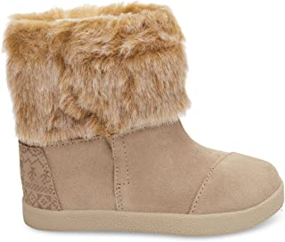 TOMS Kids Baby Girl's Nepal Boot (Infant/Toddler/Little Kid) Oxford Tan Suede/Faux Fur 2 Infant