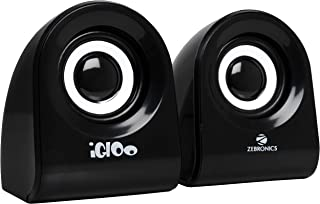 Zebronics Zeb- Igloo 2.0 Multimedia Speaker with Volume Control & USB/3.5mm Jack Input