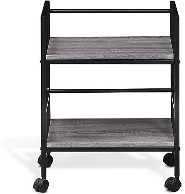 Furinno Modern Storage Cart, French Oak Grey