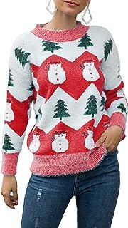 Women Y2K Sweater Oversized Long Sleeve Crewneck Floral Pullover Knitwear E-Girl 90s Aesthetic Streetwear