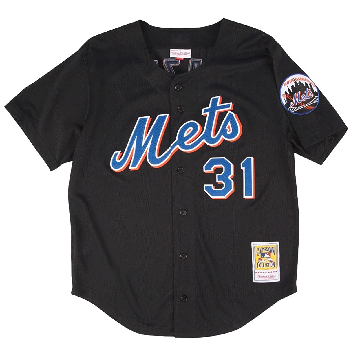 Mitchell & Ness Mike Piazza Black New York Mets Authentic Throwback Jersey