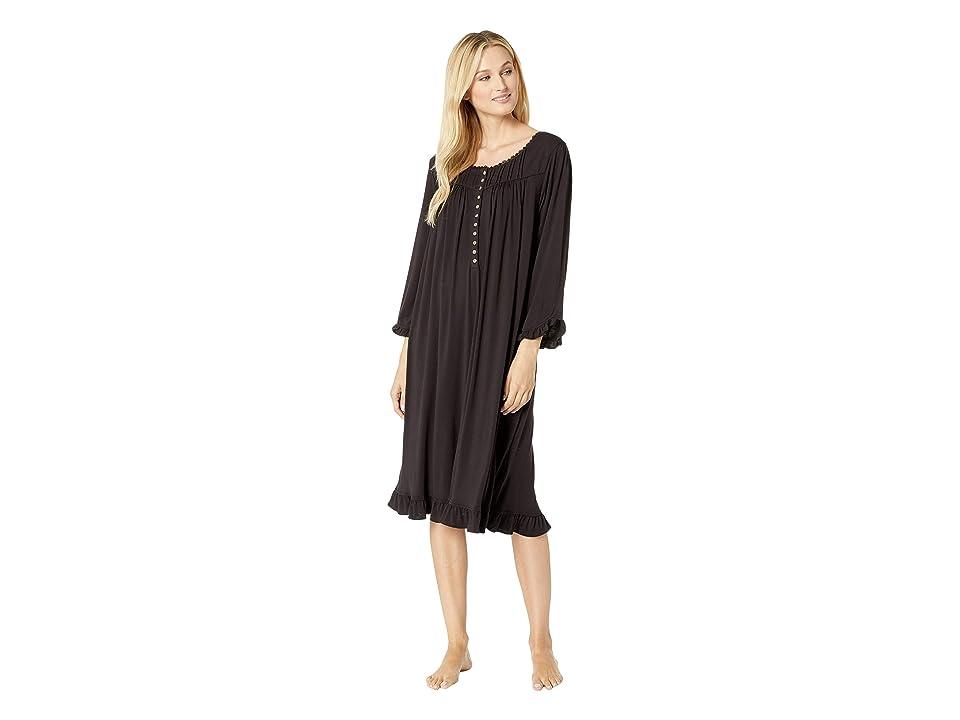 Eileen West Knit Modal Waltz Nightgown (Black) Women