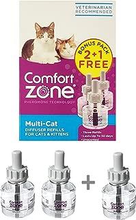 Comfort Zone Multicat Refills for Cat Calming Bonus Pack (2 Pack + 1)