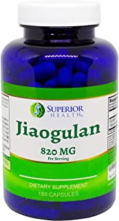 Jiaogulan 820 Mg 180 Capsules 90 Day Supply 2 Capsules Per Serving Antioxidant Supplement Gynostemma Pentaphyllum Supports...