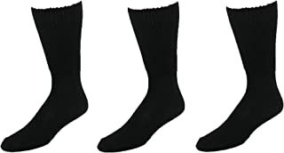 Extra-Wide Tube Socks Black Fit Shoes 9-15 Up to 6E 3-Pair Pack Diabetic for Shoe Made in USA