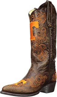 Gameday Boots NCAA Ladies 13 inch University Boot Tennessee Volunteers, 8.5 B (M) US, Brass