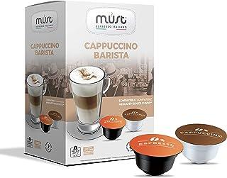 MUST 96 Capsules de Café Auto Protégé en Plastique 100% Recyclable, Mélange CAPPUCCINO BARISTA Pack de 16 Capsules pour 6 ...