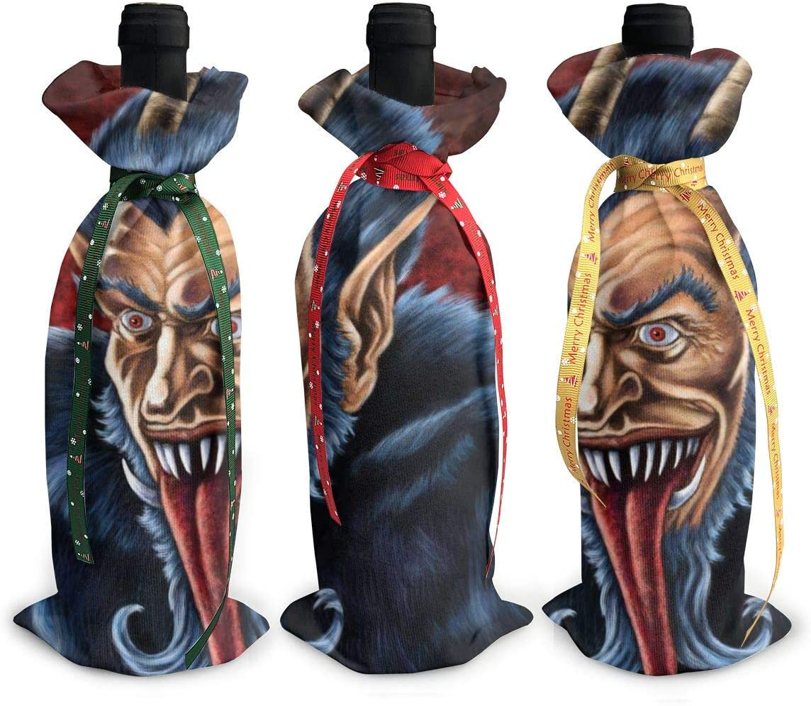 Credence Krampus Mail order Christmas Folklore Cool3Pcs Red Xmas Wine Glas